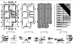 Plan and building construction detail dwg file