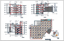 Plan and elevation commercial detail dwg file