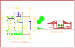 Plan and elevation design of hotel