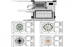 Plan and elevation flooring detail dwg file