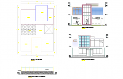Plan and elevation home plan autocad file
