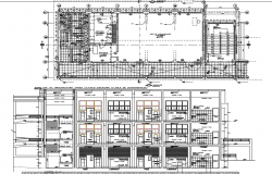 Plan and elevation layout working plan detail dwg file