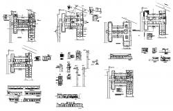 Plan and elevation of building structure CAD construction block layout dwg file