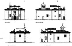 Plan and elevation of the chapel.