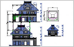 Plan and elevation view detail dwg file