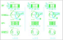 Plan and elevation view of sliding door design block dwg file