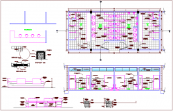 Plan and elevation with furniture view dwg file