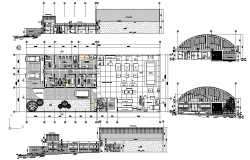 Plan and elevation working plan detail dwg file