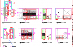 Plan and elevations of kitchen building B