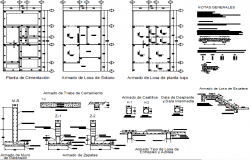 Plan and foundation section detail dwg file