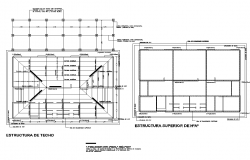 Plan and roof plan detail dwg file