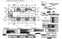 Plan and section plan detail dwg file