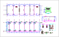 Plan and sectional view of construction detail dwg file