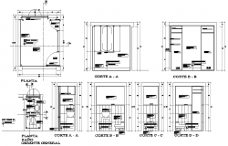 Plan and toilet detail dwg file