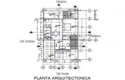 Plan architect house detail dwg file
