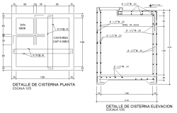 Plan cistern detail dwg file