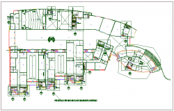 Plan detail view of structure dwg file