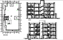 Plan elevation, section detail dwg file