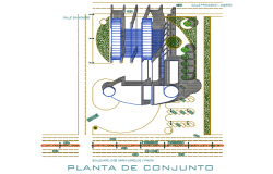 Plan fire station detail dwg file