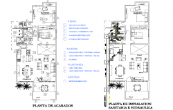 Plan installation sanitary and hydraulic layout file