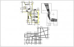 Plan layout of building dwg file