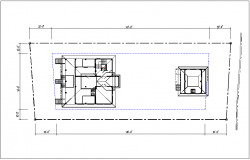 Plan layout view of house, projection view of roof,foundation layout of house dwg file