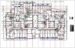 Plan layout view of house with wall,door and window view dwg file