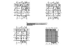 Plan of 2 storey residential house 8.00mtr x 10.70mtr in dwg file