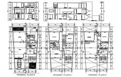 3 Storey residential house in DWG file