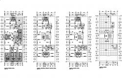 Plan of Apartment with detail dimension in dwg file