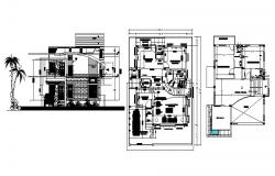 Plan of Bungalow with elevations in AutoCAD