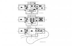 Plan of Clubhouse 41.078mtr x 13.96mtr  with detail dimension in dwg file