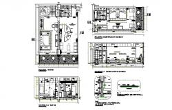 Plan of Fivestar hotel room8.65mtr x 11.29mtr with furniture details in dwg file