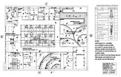 Plan of Office Building with Electric Layout in dwg file