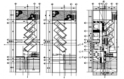 Plan of Residential apartment with detail dimension in dwg file