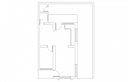 Plan of Residential house in Autocad