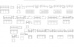 Plan of Sofas and armed chairs detail dwg.