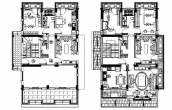 Plan of a apartment dwg file