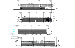 Plan of a convenience store in small town plan detail dwg file.