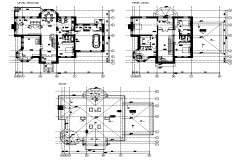 Plan of a house dwg file