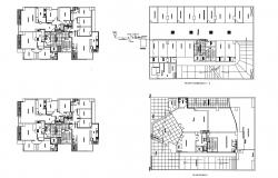 Plan of a residential apartment in autocad