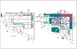Plan of administration building dwg file
