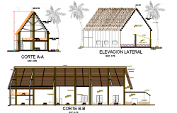 Plan of an ecological resort detail dwg file,