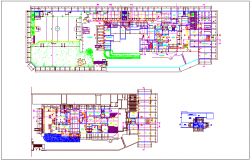 Plan of architectural faculty for university dwg file