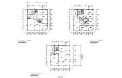 Plan of building 12.80mtr x 14.40mtr with detail dimension in dwg file