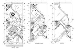 Plan of bungalow 10.00mtr 22.60mtr with furniture details in dwg file