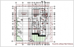 Plan of clinic of rural area dwg file