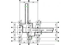Plan of foundation detail dwg file