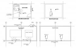 Plan of guard house with detail dimension in dwg file
