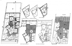 Plan of house 16.57mtr x 40.16mtr  with detail dimension in dwg file